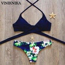 VINIKNIKA 2017 Hot Woman Bikini Swimsuit Sexy Lady Low Waist Cross Bikini Set New Summer Beach Brazil Swimwear