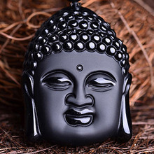 лучшая цена Free shipping Natural obsidian scrub buddha pendant wholesale price/ 2015 new style/ bridal gifts/