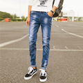2016 new men's jeans trousers slim jeans stretch casual menswear factory direct wholesale
