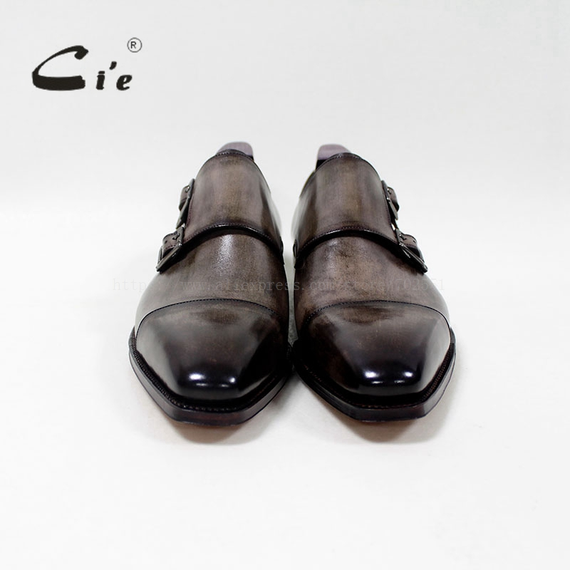 cie Square Captoe Double Monk Riemen Patina Oliver Grey Handmade - Herrenschuhe - Foto 4