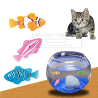 2 3 4pcs Robofish Activated Battery Powered Toy Fish Robotic Pet Cat Favorite Fish Tank Aquarium