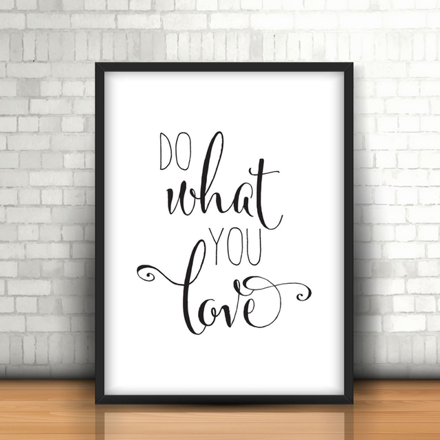 Love Quote Canvas Cool Do What You Love Quote Canvas Painting Nursery Wall Art Black
