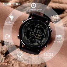 SANDA Stainless Steel Case Digital Mens Watches Top Brand Luxury Military Sport Waterproof Clock Male Relogio Masculino