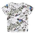 2-8T Short Sleeve Unisex T-shirts Cotton Summer Whiter Kids Shirt Cartoon Cute O-neck Chemise Garcon Soft Quality Camisa Menina