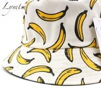 [Lymtm] для женщин банан 3D принт Панама Лето мужчин хип хоп Рыбак кепки Высокое качество s Панама Рыбалка шляпа пляжная шляпа