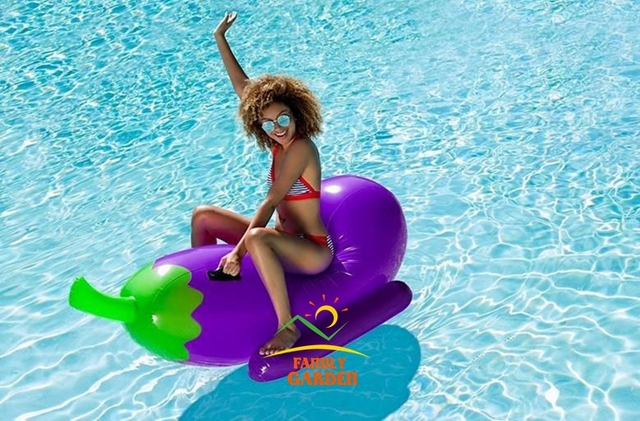 US $49.9 |Inflatable Emoji Eggplant Pool Float Large Swimming Pool Raft 6  foot long Rideable Pool Inflatable-in Swimming Rings from Sports & ...