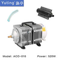 450l/最小520ワットsunsun aco電磁空気圧縮機用水栽培池水族館の水槽エアーポンプ養殖エアレーター