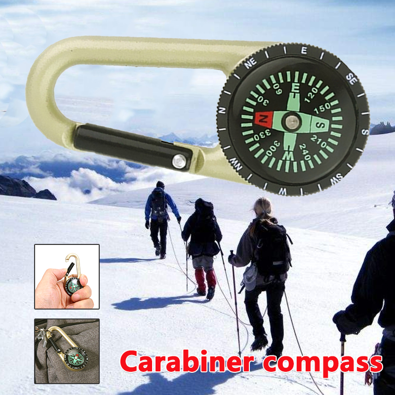 Gold Carabiner Hanging Compass Backpack Practical Hang Buckle Tactics Mountaineering Outdoor Zinc Alloy Portable Carabiner Hook