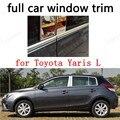 Декоративные полосы для полного окна  внешние аксессуары для Toyota Yaris L из нержавеющей стали с центральным столбом