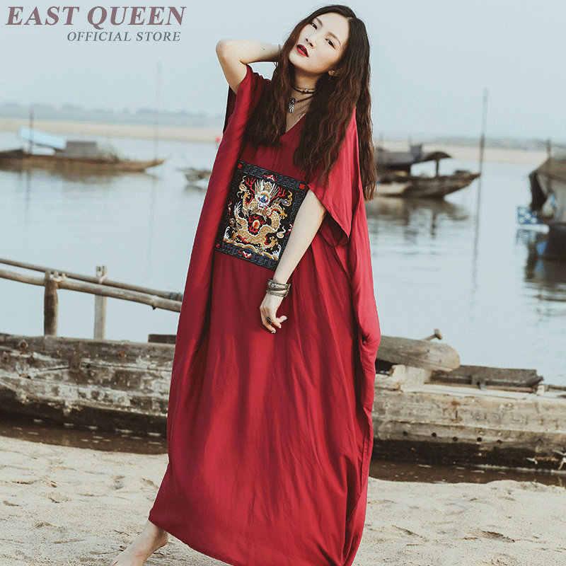 402c8d029dc Chinese style oriental dresses dragon costume modern qipao Japanese kimono modern  Boho chic mexican hippie dress