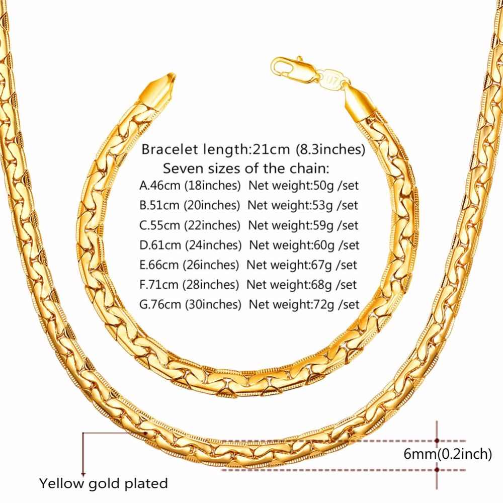 Starlord, conjunto de pulsera y Collar para hombre, cadena para hombre, bisutería de moda, Color dorado, conjuntos de joyería Dubai 2017 NH2564