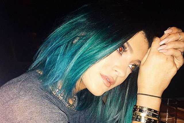 Kylie Jenner Hair Green Ombre Short Bob Hair Wig Synthetic Lace
