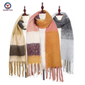 Free Shipping 2017 new  imitate cashmere large 200*50 cm winter warm soft scarf patchwork scarves Women's tassel muffler DP2601
