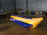 Inflatable Banana Boat Used on Water Game