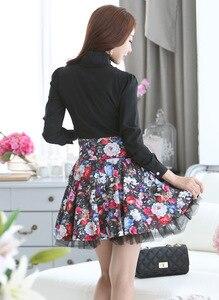Image 4 - 2019 Kantoor Blusa Chiffon S XXL vrouwen bowtie OL overhemd bladerdeeg Fashion Lange Mouwen Solid Vintage Shirts Tops chiffon blouse w00391