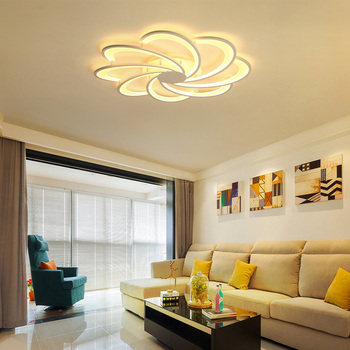 Креативные цветы светодиодные потолочные светильники простые современные светодиодные лампы для гостиной фонарь для спальни de teto светоди...