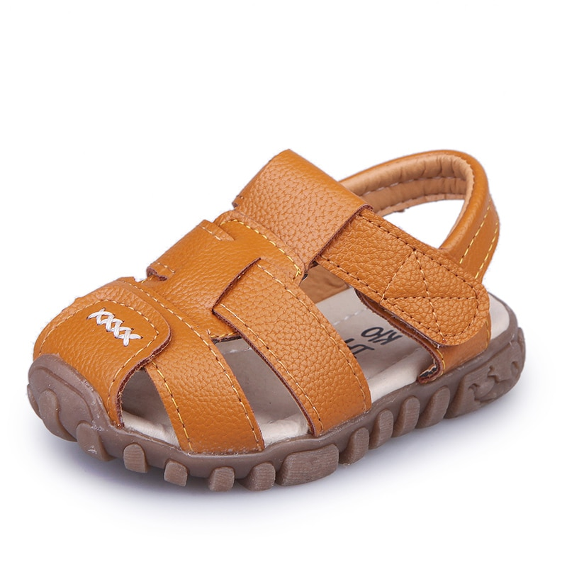 COZULMA 2019 New Summer Kids Sandals for Boys Beach Shoes Children Soft Bottom Leather Baby Size 21-36