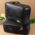 Top Grade Professional PU Leather Barber Bags Salon Hairdressing Tool Storage Case Hair Clipper Bag Can Hold Hair Dryer