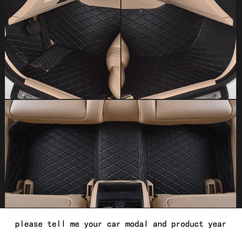 for SUBARU impreza wrx brand leather Wear-resisting Car floor mats black grey brown beige Non-slip waterproof  car floor Carpets subaru impreza насос гур