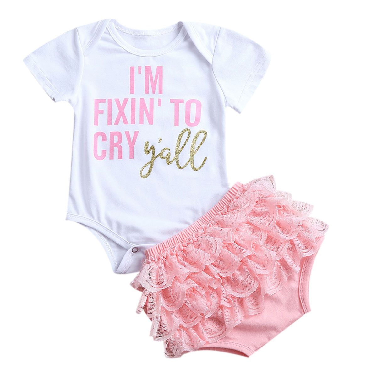 2Pcs Newborn Infant Baby Girls Outfits Romper Jumpsuit Bodysuit+Lace Tutu Dress Summer Baby Girls Clothing Set himipopo 2 pcs baby girls bodysuit dress