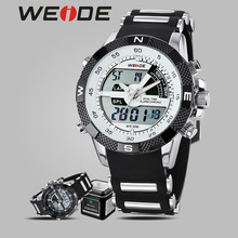 WEIDE alarm clock LCD  luxury sport silicon black watches quartz  date digital electronic watch waterproof Casket for watches все цены