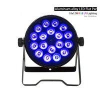 SHEHDS Aluminum Alloy LED Flat Par 18x12W RGB+UV Light DMX512 Stage Lighting For DJ Disco Party Fast Free Shipping