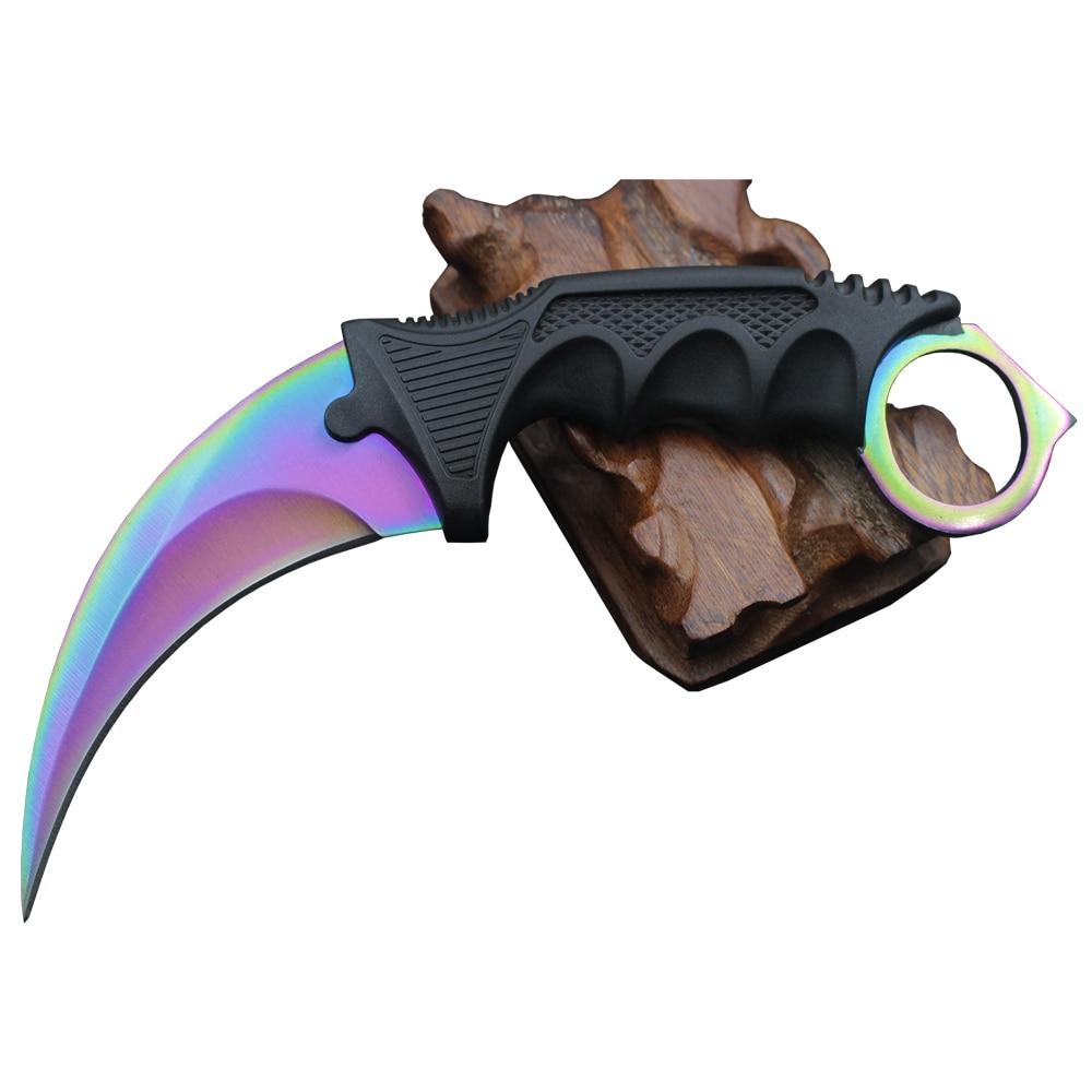 CSGO-couteau d'entraînement Karambit à lame fixe pour la survie de la chasse, couteaux de poche pour la chasse, CS COLD livraison directe