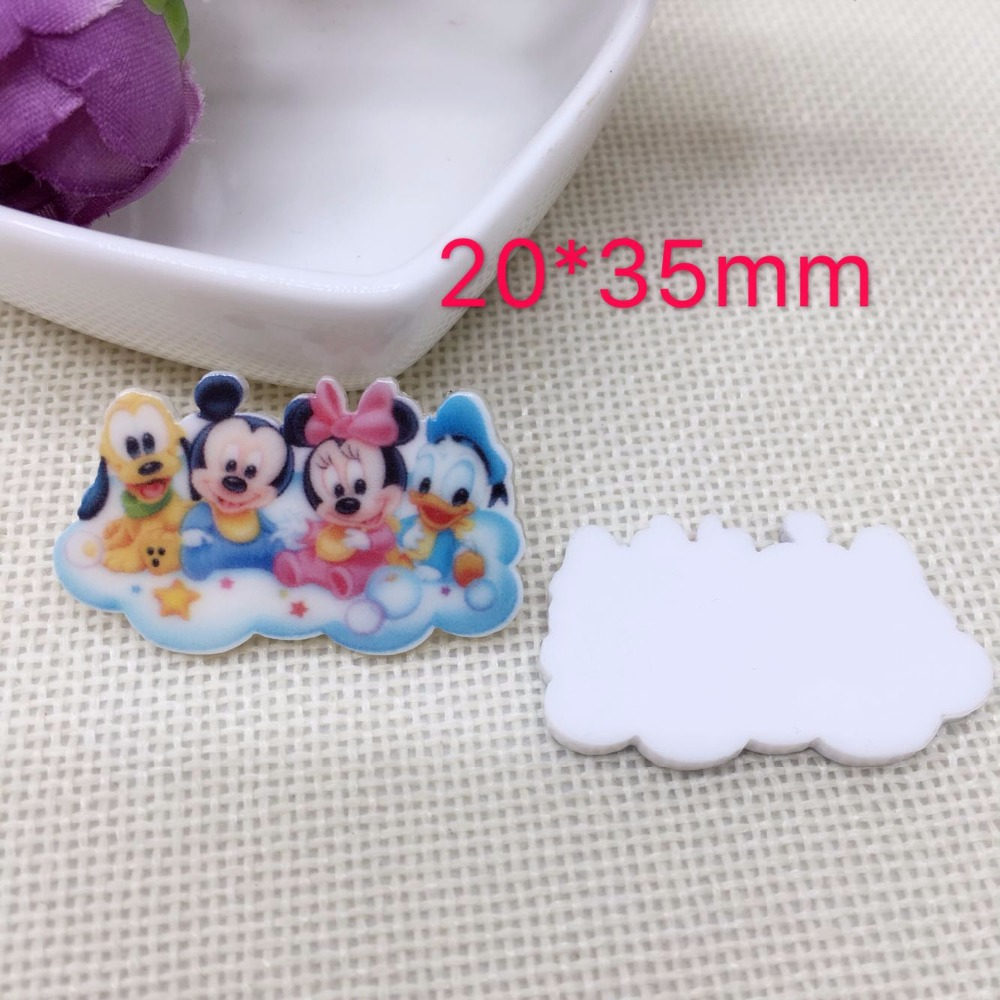 Home & Garden Apparel Sewing & Fabric 10pcs/lot Cute Diy Cartoon Baby Mickey Holiday Home Decoration Crafts Flat Back Resin Hair Accessories Resin Crafts 8548 Terrific Value