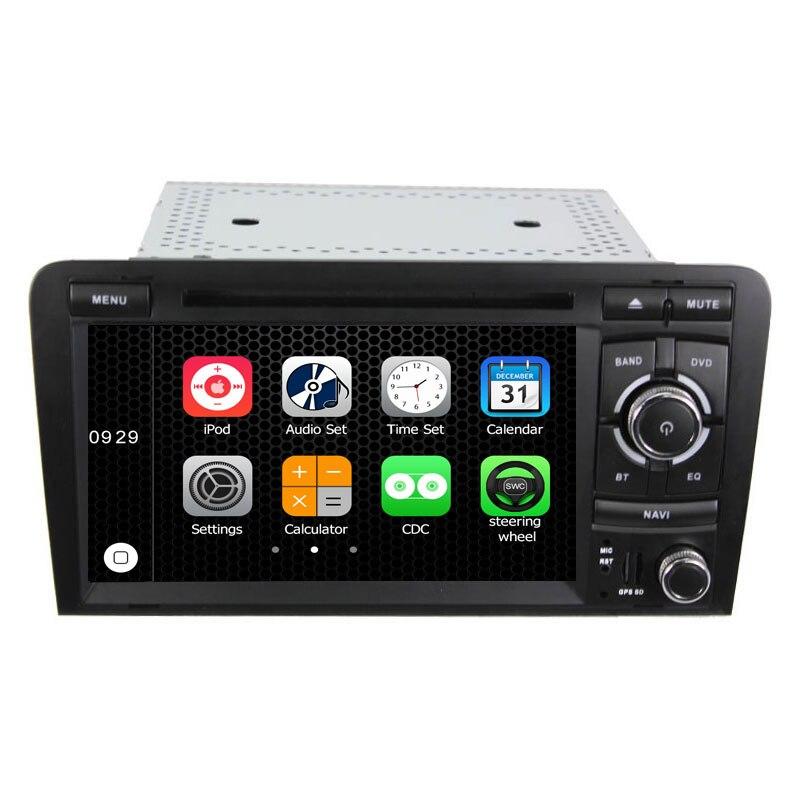 Zwei Din 7 Zoll Auto-DVD-Spieler Für Audi/A3/S3 2003-2012 Canbus Radio GPS Navi Bluetooth 1080 P Navigation FM Freie Karte Karte Kamera