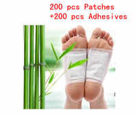 400 Pcs/lot Detox Foot Patches Pads Body Toxins Feet Cleansing Herbal Adhesive (200pcs Patches+200pcs Adhesives)