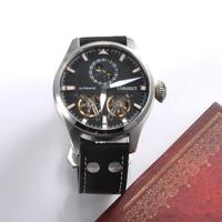 Relogio Masculino 47mm Corgeut Mens Watches Top Brand Luxury Automatic Mechanical Watch Men flywheel date Sport men Wristwatches