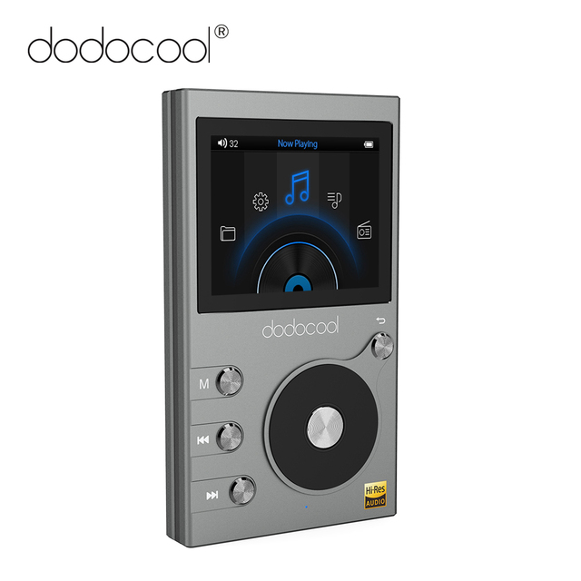 dodocool 8GB MP3 Player High Resolution Audio Music HIFI Player with FM Radio Voice Recorder 2″ LCD Screen Support TF Card