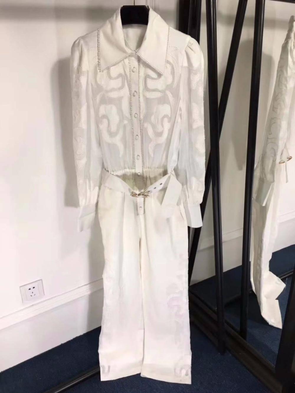 Mode Pour 2018 D'une Vêtements Long Costumen Combinaisons Vadim Pièce Femmes Élégant Seule Automne Les Sexy Salopette De Barboteuses qtP6Pwfd