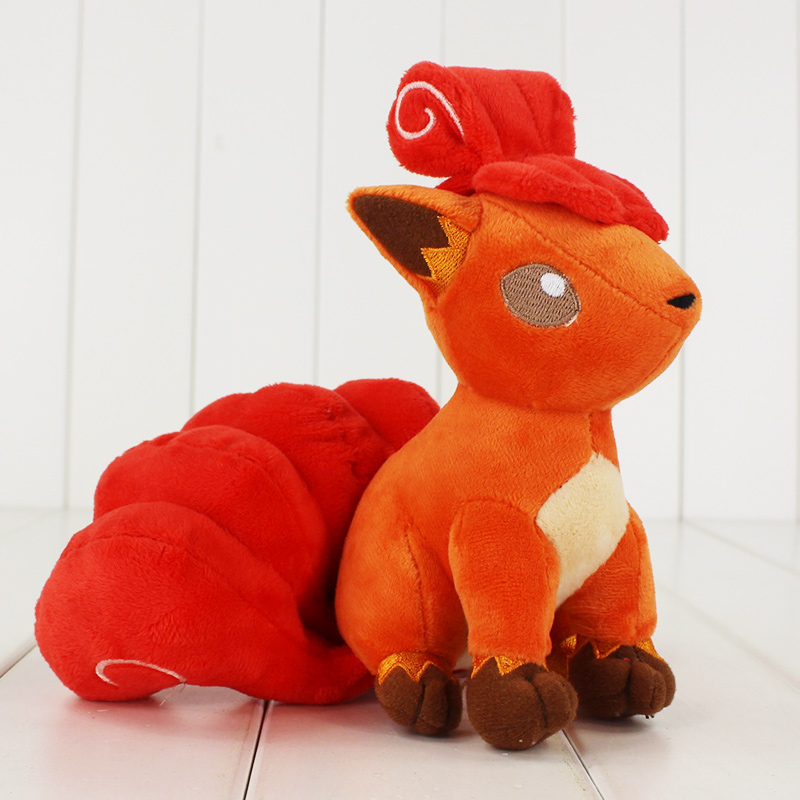 10pcs lot 19cm Anime Poke Go Vulpix Plush Toy Cute Vulpix Stuffed Animal Doll for Kids