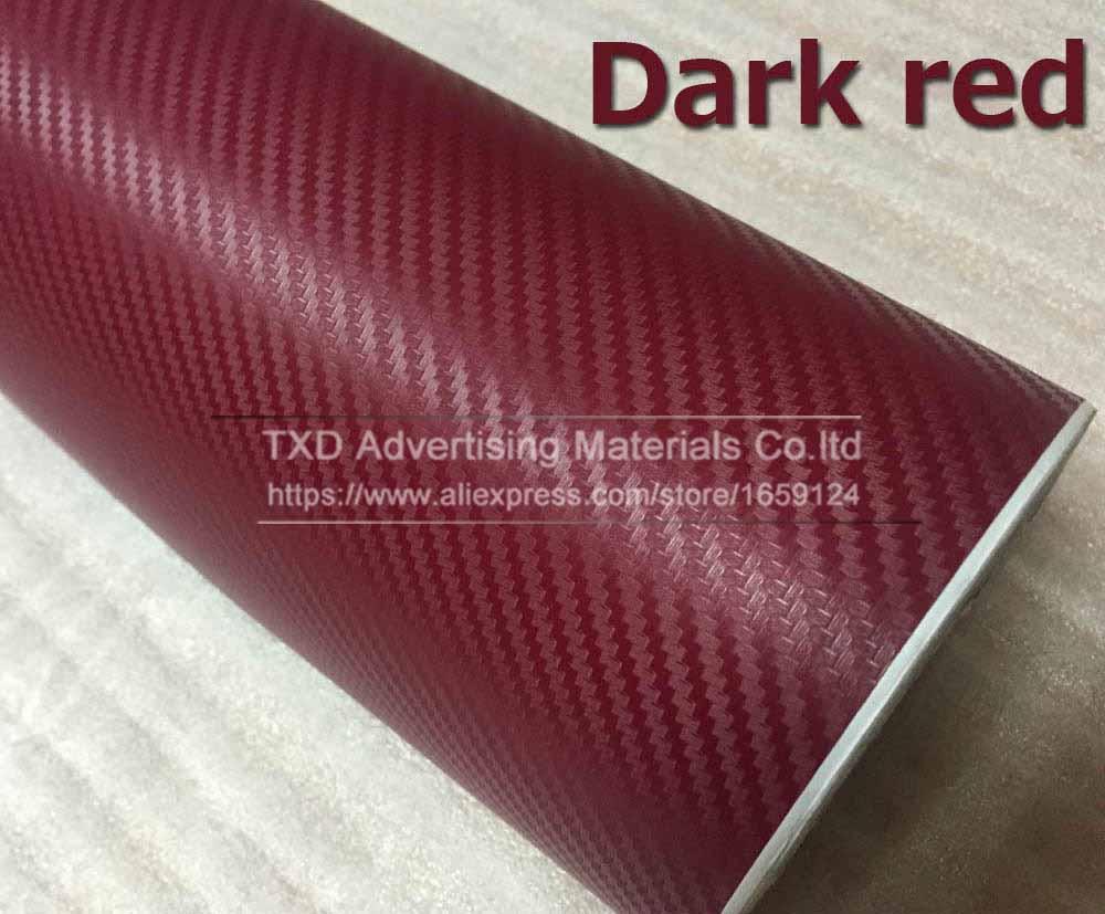 "50/"" 3D Texture Black Carbon Fiber Sticker Vinyl Decal Film Wrapping Sheet C93"