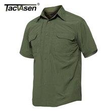 TACVASEN Марка Тактический быстрое высыхание рубашка дышащий лагерь Для Мужчин's Повседневное футболка с коротким рукавом Для мужчин армейские Военное Дело рубашка TD-JNE-002