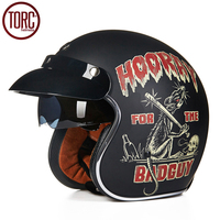 TORC Motorcycle Helmet Harley Open Face Vintage Cruiser Helmet T57A Moto Casque Casco Motocicleta Capacete DOT