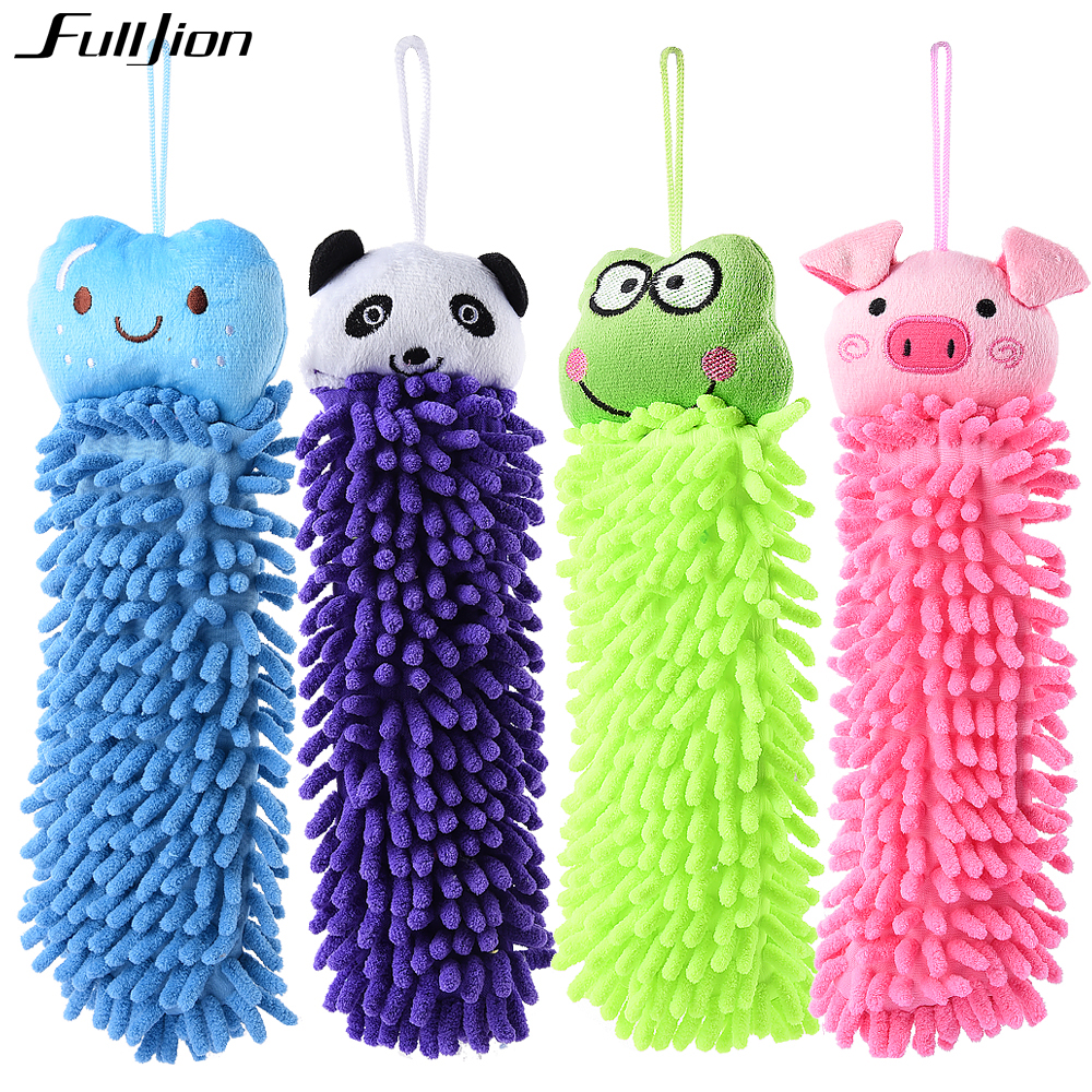 New Baby Children's Cartoon Animal Hanging Bath Towel Hand Towel Soft Six Colors Kitchen Supplies New Character Hanging Towel