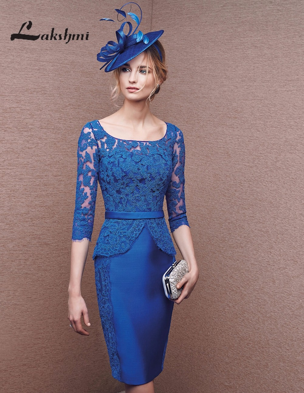 Fashion Royal Blue Mother of the Bride Dresses with Sleeve...