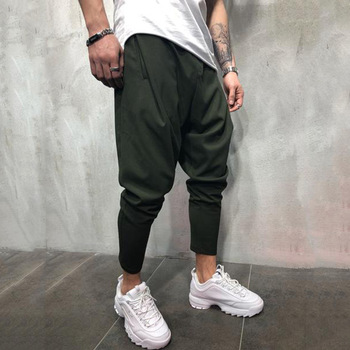 Men's Joggers Pants Streetwear Hip Hop Trousers Casual Harem Pants Male Loose Slim Fitness Soft Plain Narrow Leg Opening Clothes 5