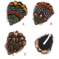 Free Shipping !!, 10pcs/lot, Latest Design Dot Feather OWL Feather Tone Hairpins Natural Feather Hair Clips