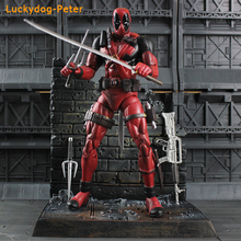 Deadpool Special Collector Edition Action Figure with Highly Detailed Base Deadpool Movable Doll PVC ACGN figure Brinquedos