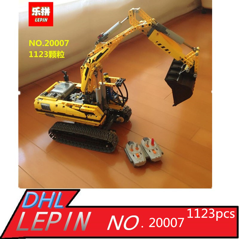 LEPIN Technic 20007 excavator Model Building Kit figures Lepin Building Blocks Bricks fun toys for children gift Compatible 8043 lepin 20025 760pcs technic series red excavator building blocks bricks toys for children gift