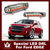With Yellow Turning Function Chromed ABS Cover 12V Car DRL LED Daytime Running Light For Ford