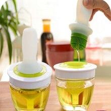 Новая кухня масло бутылка с силиконовой Мёд оливкового масла щетка для барбекю выпечки кухонная утварь Кухня Интимные аксессуары