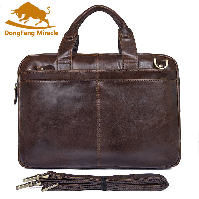 New 100% Genuine Leather Shoulder Bag Men's Laptop Bag Handbag Briefcase Messenger Bags High quality Men Business Shoulder Bag mva men genuine leather bag messenger bag leather men shoulder crossbody bags casual laptop handbag business briefcase