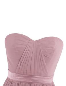 Image 4 - Dusty Rose Mooie Geplooide Hoge Taille Bruidsmeisje Jurk Elegante Prachtige Sexy Strapless Lange 2020 Nieuwe Collectie Wedding Party Dress