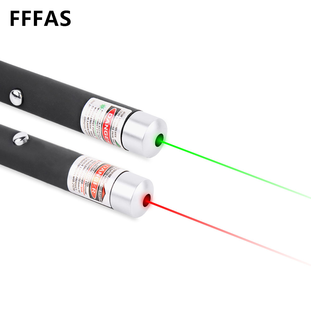 Galleria fotografica FFFAS Green Red Blue Purple Laser Pointer Pen Puntero Petardos For Teach Caneta Potente Signal Toys Stylo AAA Battery Speech Boy