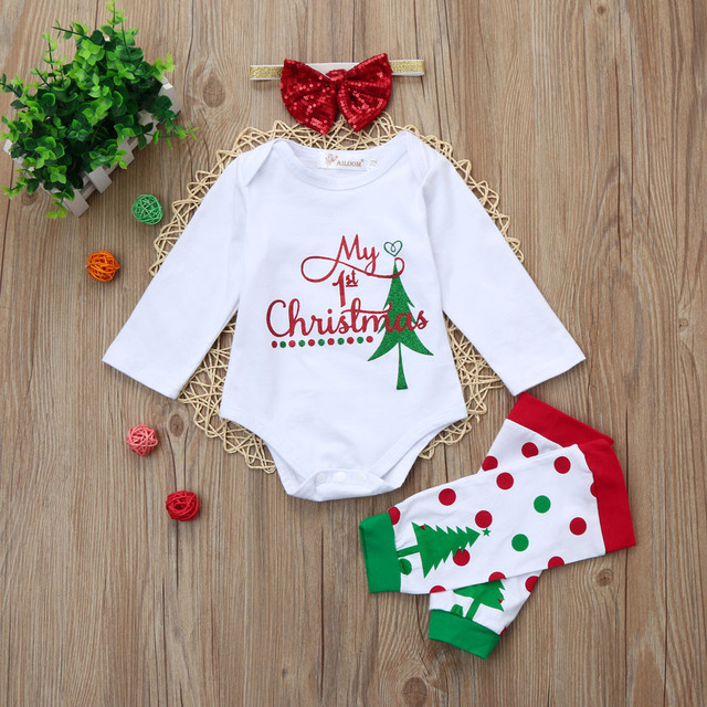 91ef682a7 2017 Christmas Hot Selling Children Clothing Newborn Toddler Infant ...