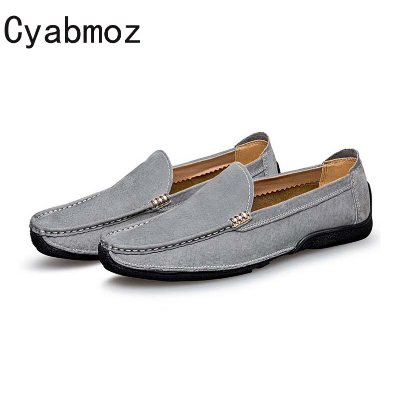 Cyabmoz Brand Men's Casual Loafers Genuine Leather Slip-on Moccasins Handmade Men New Fashion Flats Driving Shoes Zapatos Hombre fashion nature leather men casual shoes light breathable flats shoes slip on walking driving loafers zapatos hombre